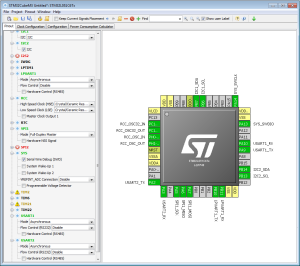 Pin Planning in STM32CubeMX.